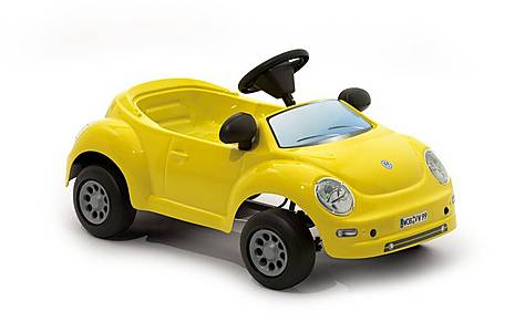 image of Vw New Beetle Baby Yellow Pedal Car