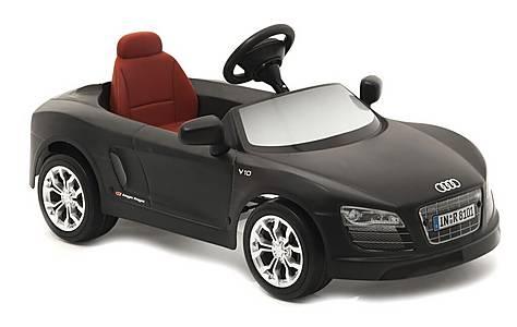 image of Audi R8 Spyder Mat Black Pedal Car