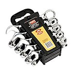 image of Sealey S0561 Combination Spanner Set 10pc Stubby Metric