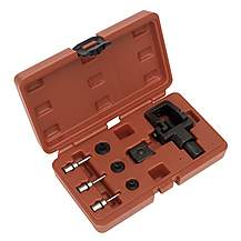 image of Sealey Ms025 Heavy-duty Motorcycle Chain Splitter & Riveting Tool Set