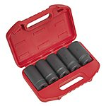 "image of Sealey Sx050 Impact Hub Nut Socket Set 5pc 1/2""""sq Drive"