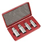 "image of Sealey Ak723 Stud Extractor Set 4pc 1/2""sq Driv Metric"
