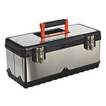 image of Sealey Ap505s Stainless Steel Toolbox 505mm With Tote Tray