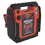 image of Sealey Rs132 Roadstart Emergency Power Pack With Air Compressor 12v 900 Peak Amps