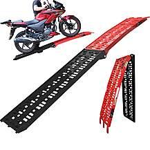 image of Black Pro Range Coated Folding Motorcycle Loading Ramp (b5144)