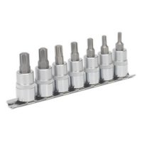 "Sealey Ak6232 Ribe Socket Bit Set 7pc 3/8""""sq Drive 50mm"