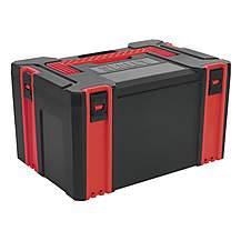 image of Sealey Ap8250 Abs Stackable Click Together Toolbox - Large