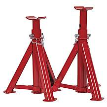 image of Sealey As3000f Axle Stands (pair) 3tonne Capacity Per Stand Folding