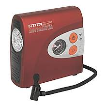 image of Sealey Mac01 Mini Air Compressor With Work Light 12v