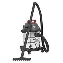 image of Sealey Pc195sd Vacuum Cleaner Wet & Dry 20ltr 1250w Stainless Drum