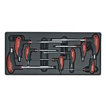 image of Sealey Tbt06 Tool Tray With T-handle Ball-end Hex Key Set 8pc