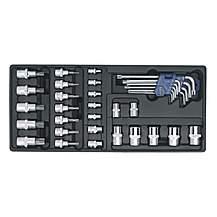 image of Sealey Tbt08 Tool Tray With Trx-star Key, Socket Bit & Socket Set 35pc