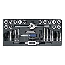image of Sealey Tbt26 Tool Tray With Tap & Die Set 33pc