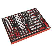 """image of Sealey Tbtp02 Tool Tray With Socket Set 91pc 1/4"""""""", 3/8"""""""" & 1/2""""""""sq Drive"""