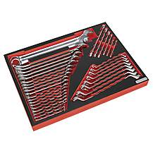 image of Sealey Tbtp03 Tool Tray With Spanner Set 35pc