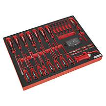 image of Sealey Tbtp04 Tool Tray With Screwdriver Set 72pc