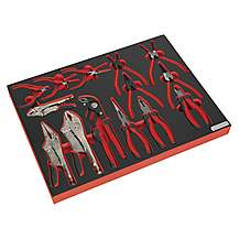 image of Sealey Tbtp05 Tool Tray With Pliers Set 14pc