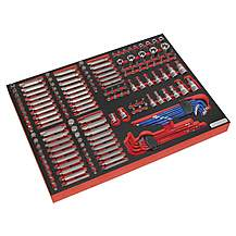 image of Sealey Tbtp07 Tool Tray With Specialised Bits & Sockets 177pc