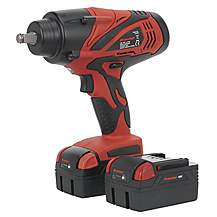 "image of Sealey Cp3005 Cordless Lithium-ion Impact Wrench 18v 4ah 1/2""""sq Drive 650nm - 2 Batteries"