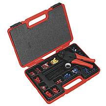 image of Sealey Ak386 Ratchet Crimping Tool Kit 552pc