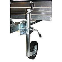 image of Trailer 48mm Jockey Wheel And Split Clamp With Fixing Kit For 50 Or 60mm Square Draw Bars