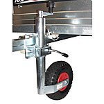 image of Trailer 48mm Pneumatic Jockey Wheel And Split Clamp With Fixing Kit For 50 Or 60mm Square Draw Bars
