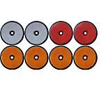 Trailer And Truck Reflector Set Round Screw On 2 Red, 2 White And 4 Amber