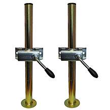 image of A Pair Of Trailer Prop Stands Corner Steadys 34mm Diameter X 460mm Length With Split Clamps