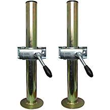 image of A Pair Of Trailer Prop Stands Corner Steadys 48mm Diameter X 460mm Length With Split Clamps
