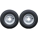 image of A Pair Of 400 X 8 Inch Trailer Wheels And Tyres With 4 Ply Tyre And 4 Inch Pcd