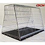 image of Pet World UK - 34 Inch Large Car Dog Cage Crate For Hatchback & Estate Cars