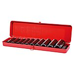 image of 1/2 Inch Impact Deep Socket Set 10 Piece, Metric