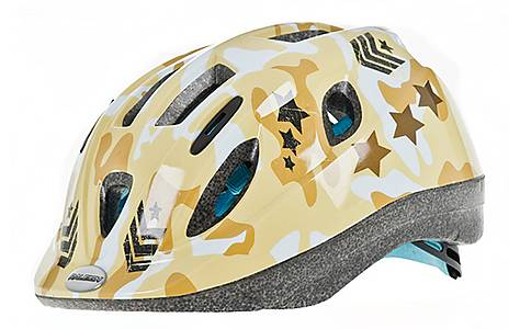 image of Raleigh Mystery Camo Sand Bicycle Helmet. 48 - 54 Cm