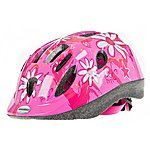 image of Raleigh Mystery Pink Flower  Girls Bicycle Helmet. 52 - 56 Cm.