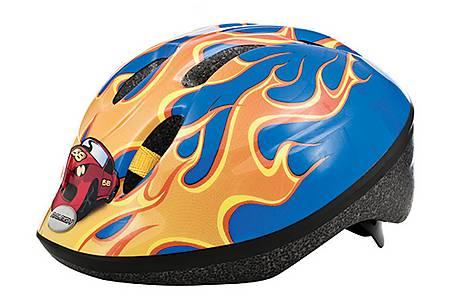 image of Raleigh Little Terra Race Car Boys Bicycle Helmet. 48 - 54 Cm