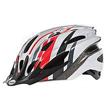 image of Raleigh Mission Red / Silver Adult Bicycle Helmet. 58 - 62 Cm.