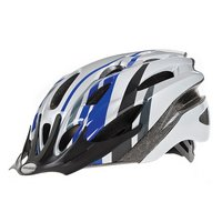 Raleigh Mission Blue / Silver Adult Bicycle Helmet. 54 - 58 Cm.
