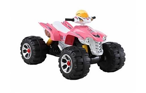 image of 6v Interceptor Quad Bike Ride On, Pink