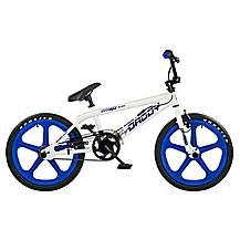 "image of Rooster Big Daddy BMX Bike 20"" Blue/white Mag Gyro"