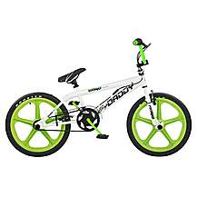 "image of Rooster Big Daddy BMX Bike 20"" Green/white Mag Gyro"