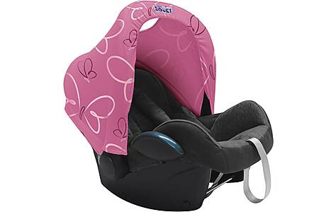 image of Dooky Carseat Hoody Pink Butterfly
