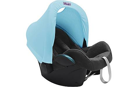 image of Dooky Carseat Hoody Baby Blue