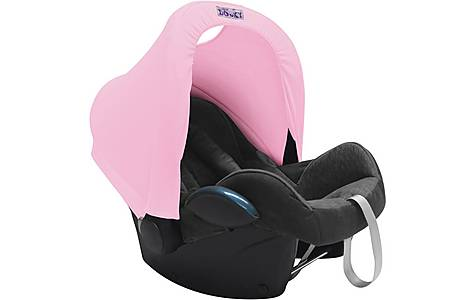 image of Dooky Carseat Hoody Baby Pink