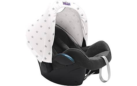 image of Dooky Carseat Hoody Silver Star