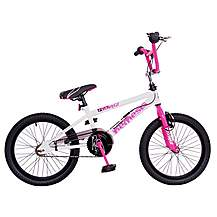 image of Rooster Nemesis 18inch Spoke White & Pink Bmx Freestyler Bike