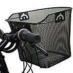 image of Black Widow Quick Release Basket Designed For Front Of Bicycle / Bike In Black
