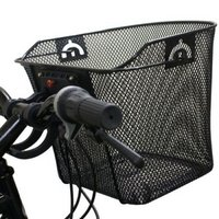 Black Widow Quick Release Basket Designed For Front Of Bicycle / Bike In Black