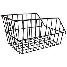 image of Adie Large Rear Wire Bike Cycle Basket Black