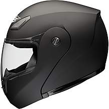 image of Shox Bullet Flip Front Motorcycle Helmet - Matt Black - Large