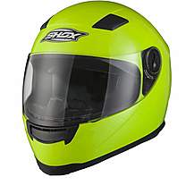 image of Shox Sniper Hi-vis Motorcycle Helmet - Large - Hi Vis Yellow